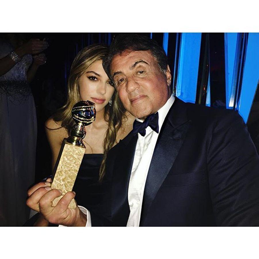 Sylvester Stallone et sa fille