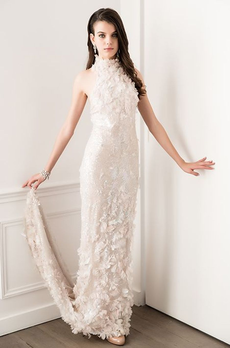 Sonia Ben Ammar (France) en robe Chanel Haute-Couture, bijoux Payal New York
