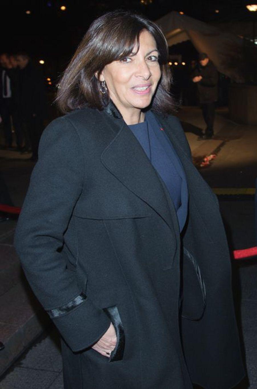Anne Hidalgo arrive au 30ème dîner du Crif à Paris, le 23 février 2015