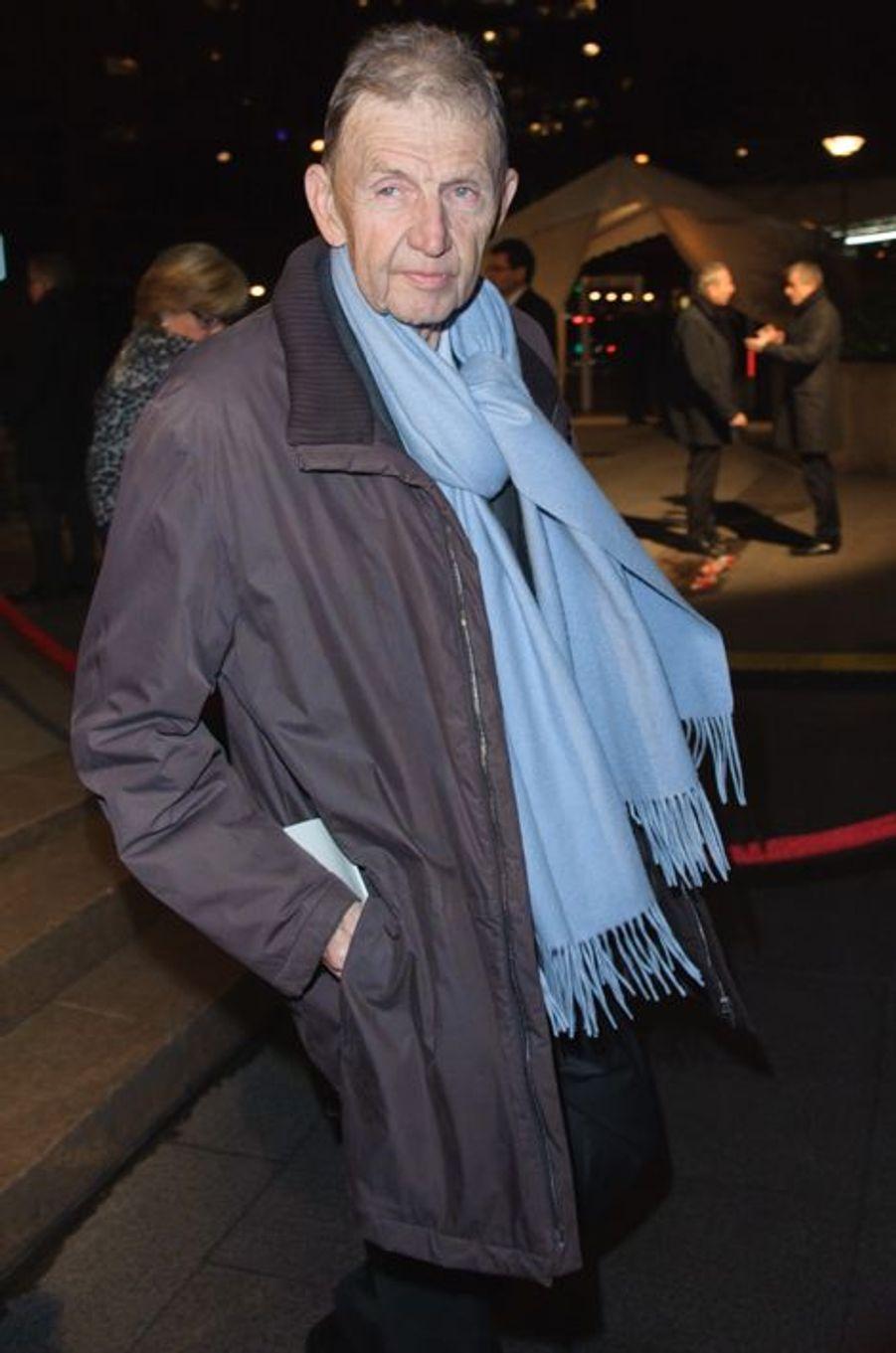 Etienne Mougeotte arrive au 30ème dîner du Crif à Paris, le 23 février 2015