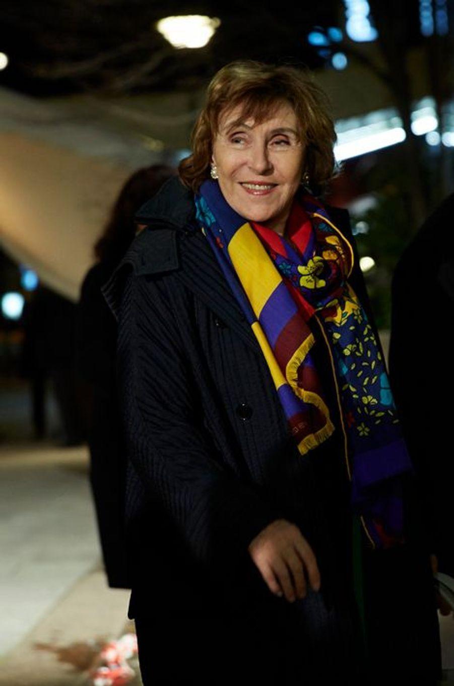 L'ancienne Premier ministre Edith Cresson arrive au 30ème dîner du Crif à Paris, le 23 février 2015