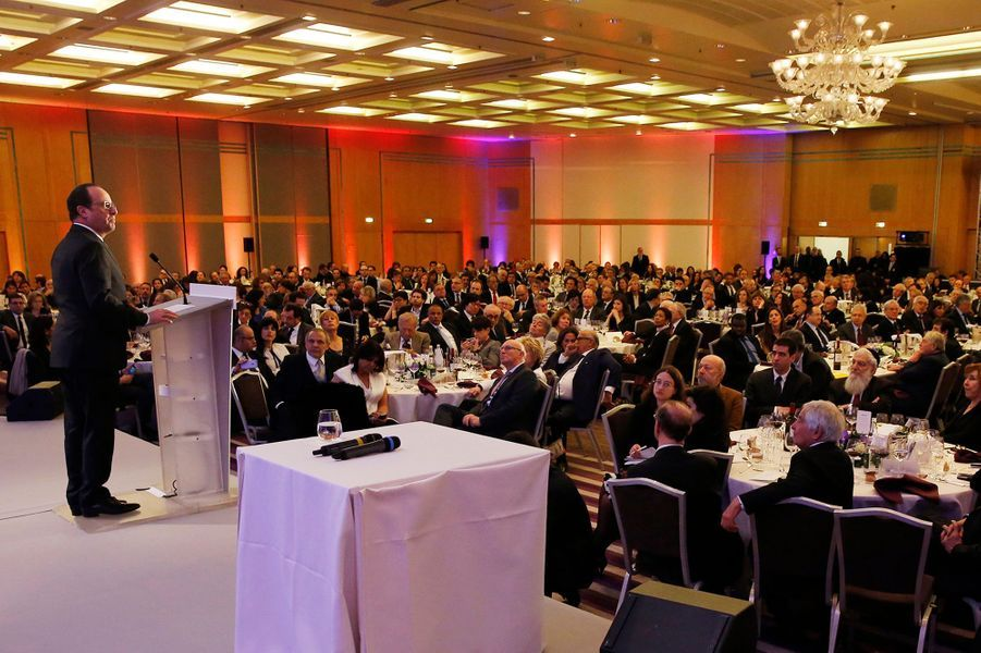 Le 30ème dîner du Crif a rassemblé 700 convives à l'hôtel Pulmann à Paris, le 23 février 2015