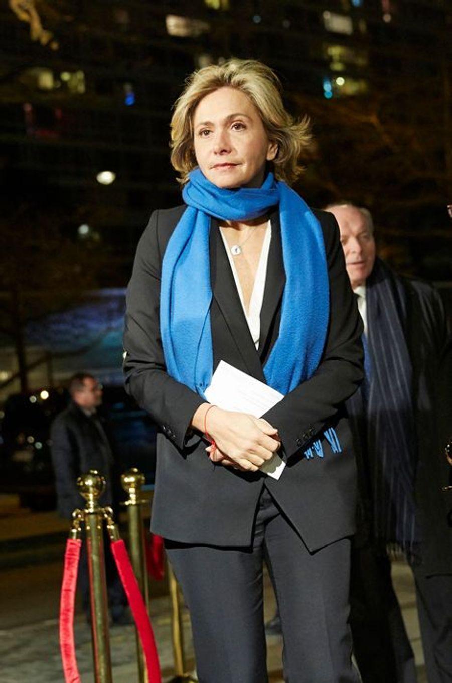 Valérie Pécresse arrive au 30ème dîner du Crif à Paris, le 23 février 2015