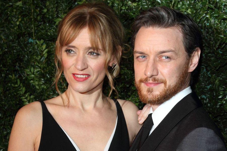 Anne-Marie Duff et James McAvoy à Londres le 30 novembre 2014