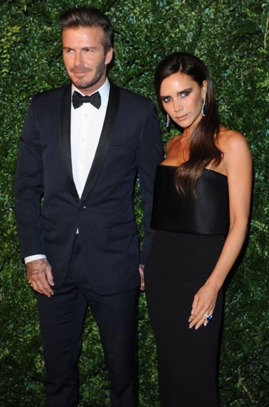 David et Victoria Beckham à Londres le 30 novembre 2014