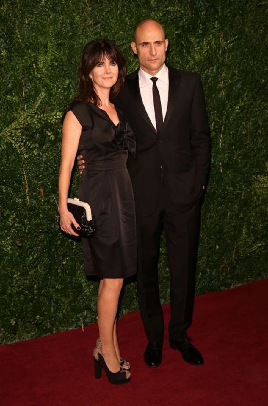 Mark Strong et son épouse, Liza Marshall, à Londres le 30 novembre 2014