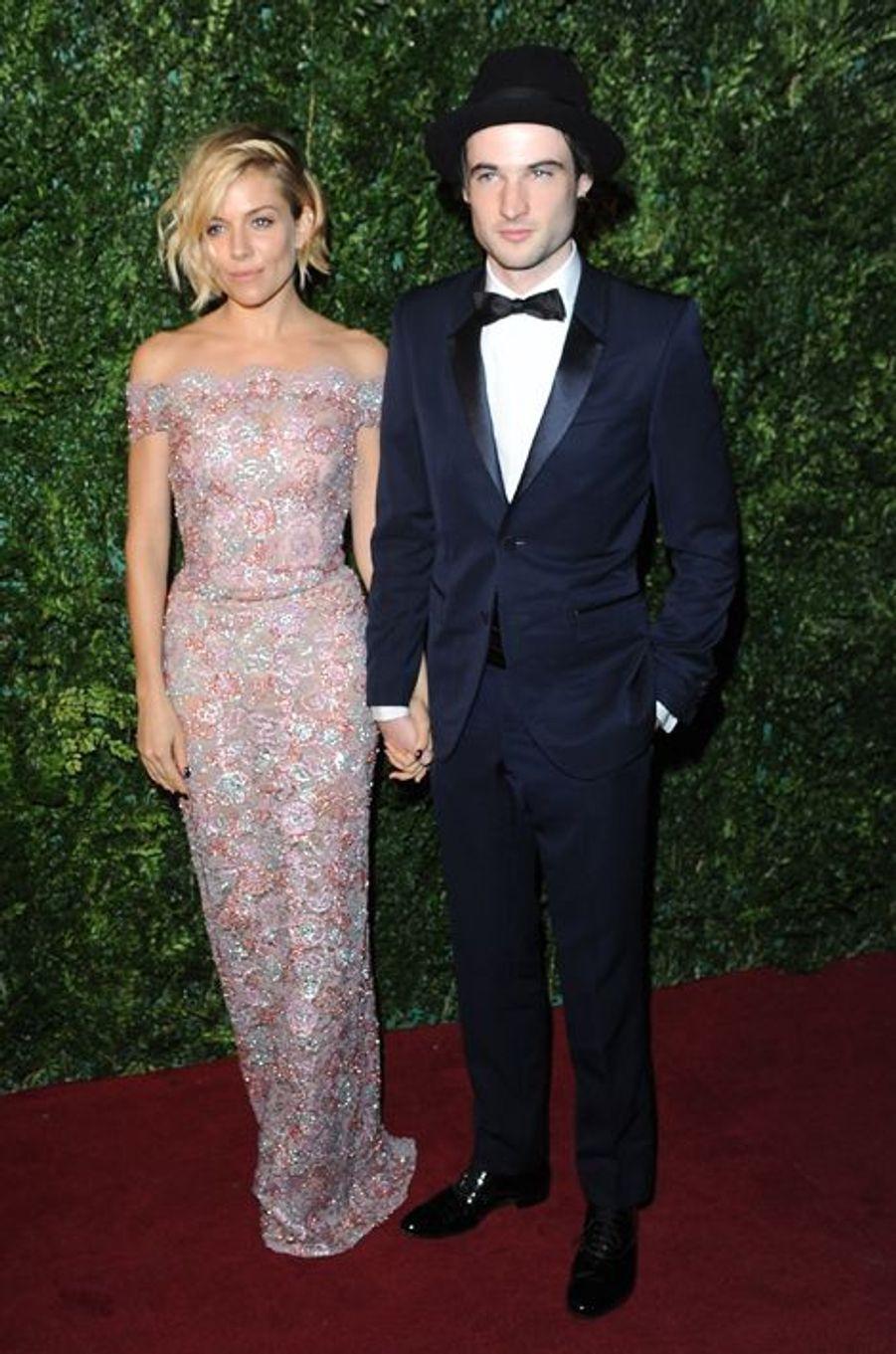 Sienna Miller et Tom Sturridge à Londres le 30 novembre 2014