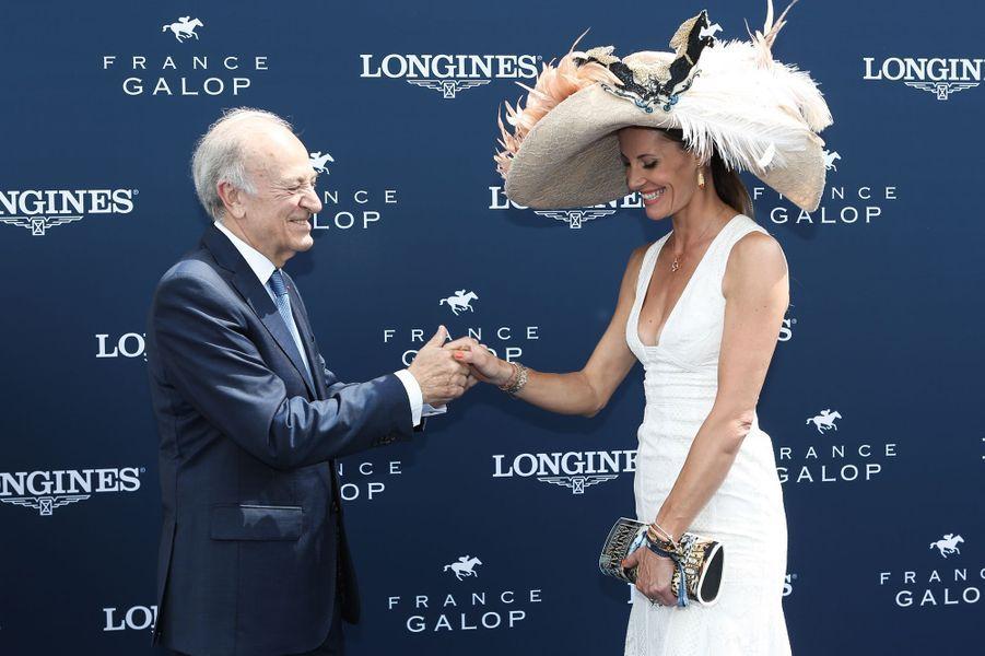 Bertrand Bélinguier (Président de France Galop) et Sophie Thalmann