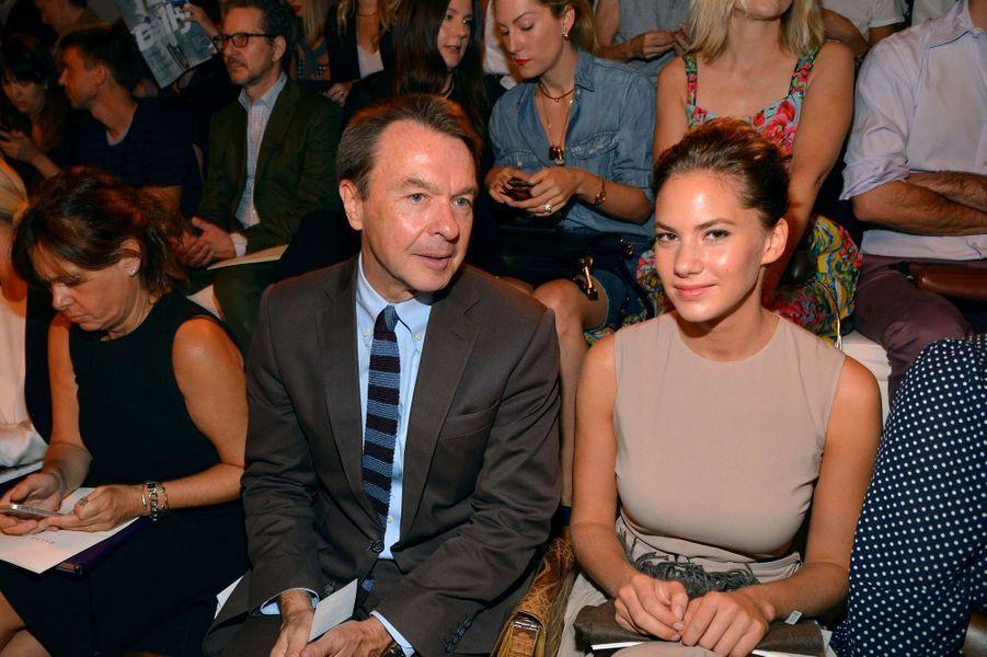 Emma Ferrer et Michael Clinton au défilé Ralph Lauren, le 11 septembre à New York