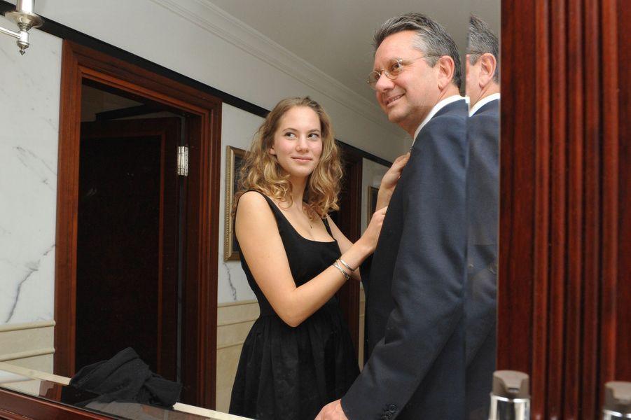 En 2010, Emma Ferrer au côté de son père Sean