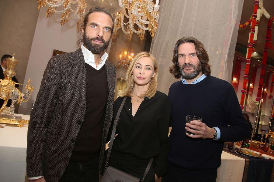 John Nollet, Emmanuelle Béart et Frédéric Beigbeder à Paris le 22 janvier 2016