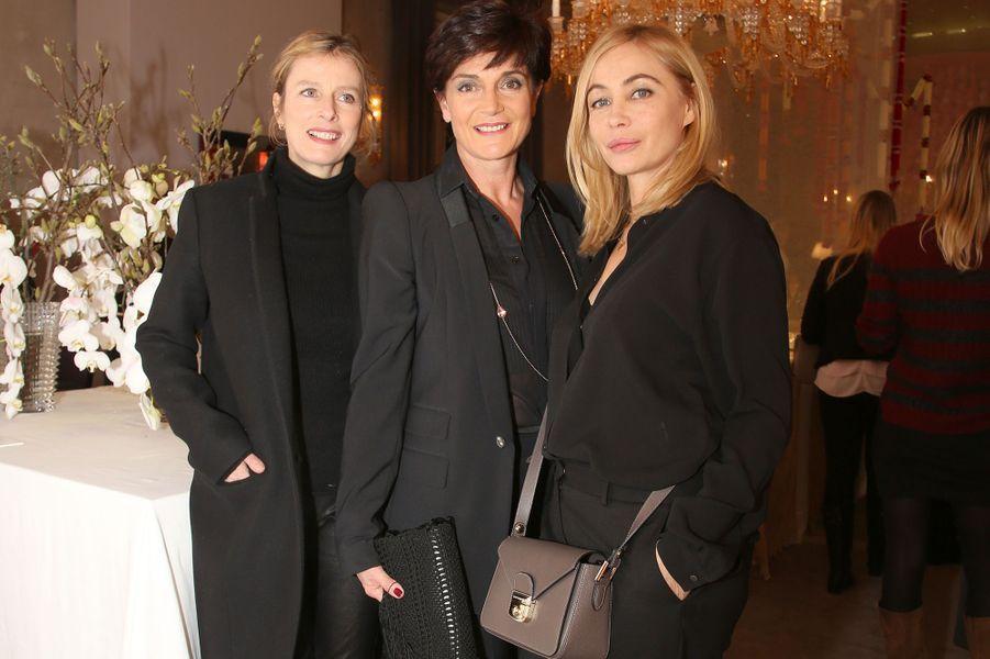 Karin Viard, Daniela Riccardi et Emmanuelle Béart à Paris le 22 janvier 2016