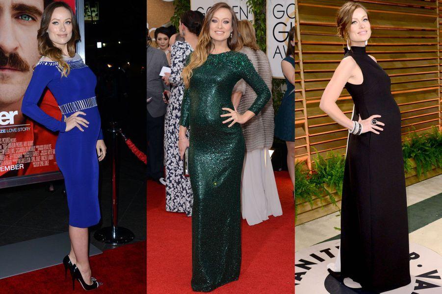 Ces actrices réussissent à concilier grossesse et glamour. Attribuez une à cinq étoiles aux stars que vous trouvez les mieux habillées.