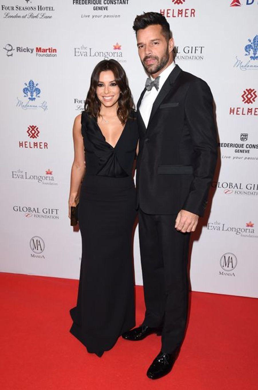 Eva Longoria et Ricky Martin à Londres le 17 novembre 2014
