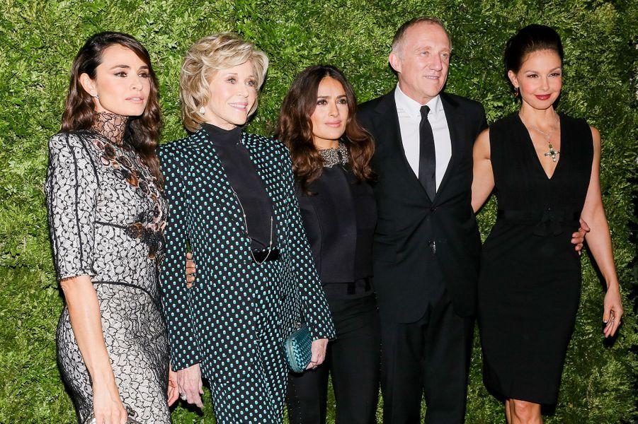 Mia Maestro, Jane Fonda, Salma Hayek, François-Henri Pinault et Ashley Judd