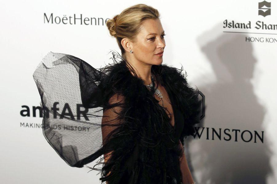 Kate Moss à Hong Kong le 14 mars 2015