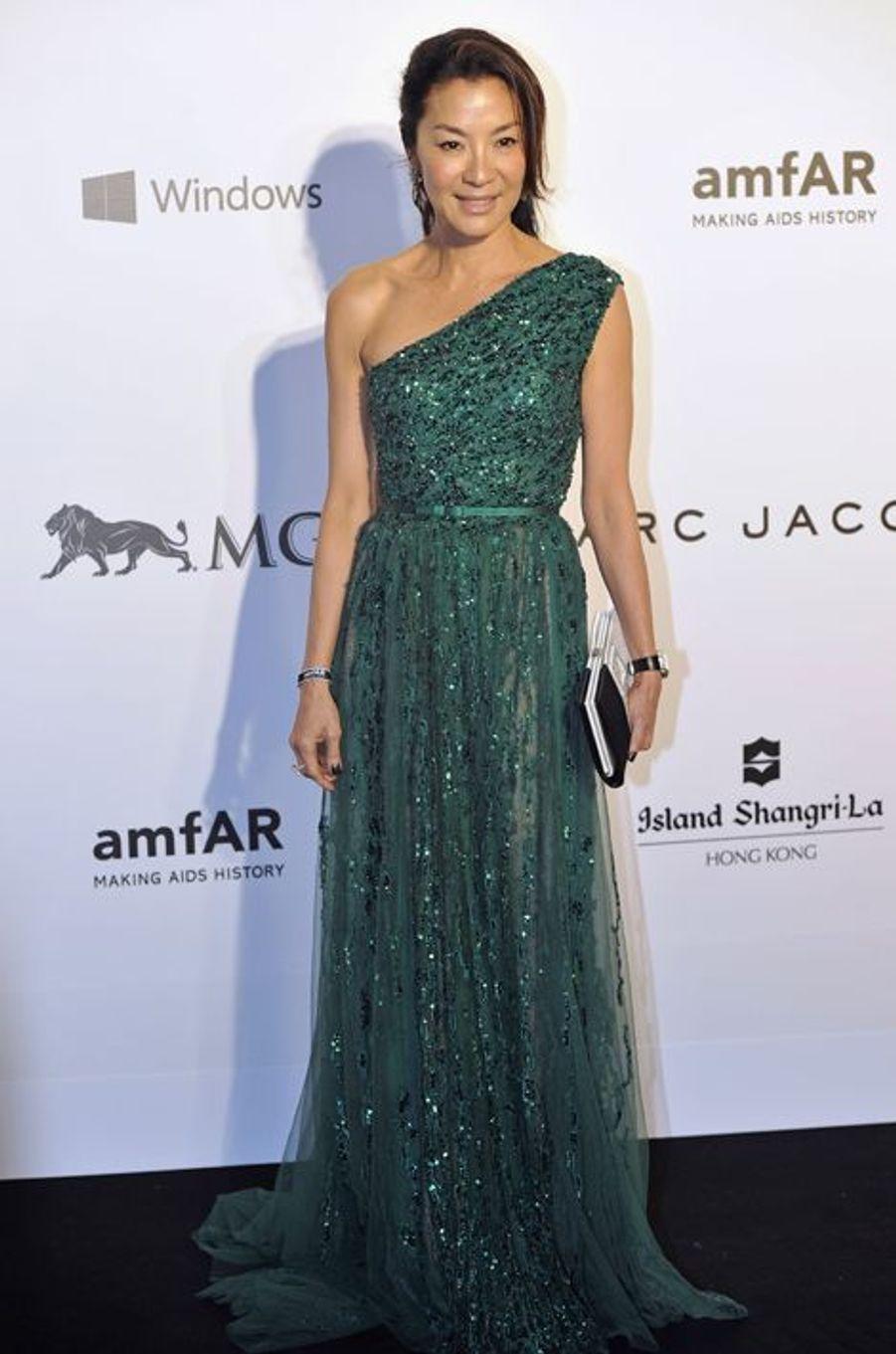 Michelle Yeoh à Hong Kong le 14 mars 2015