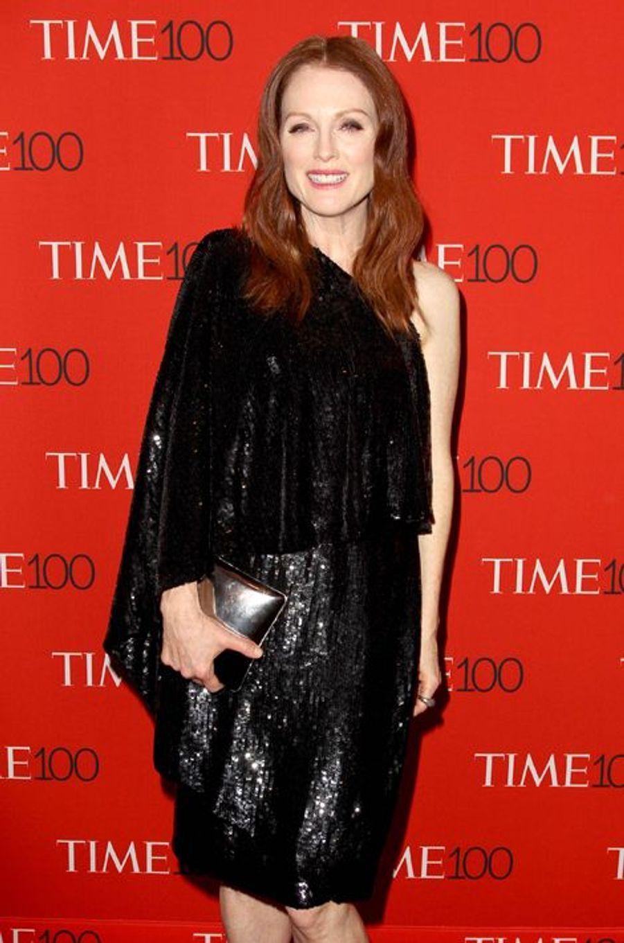Julianne Moore à New York le 21 avril 2015