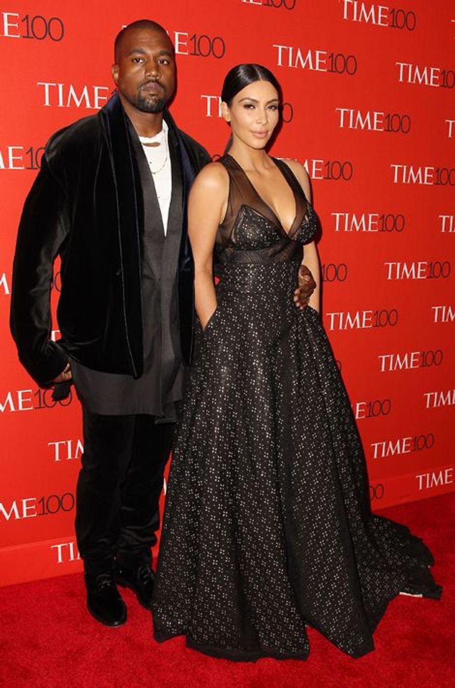Kanye West et Kim Kardashian à New York le 21 avril 2015