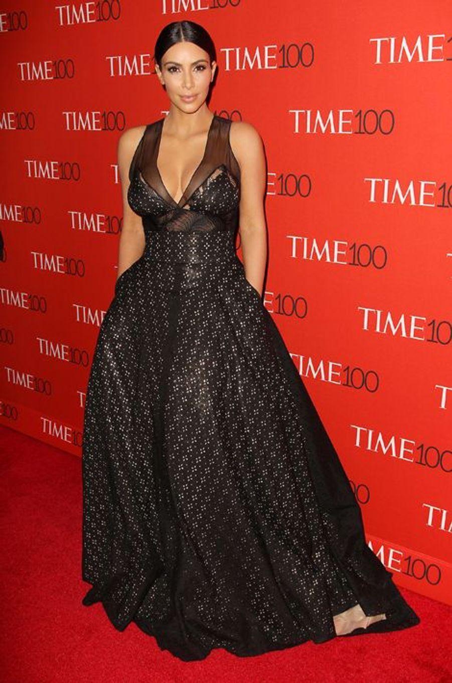Kim Kardashian à New York le 21 avril 2015