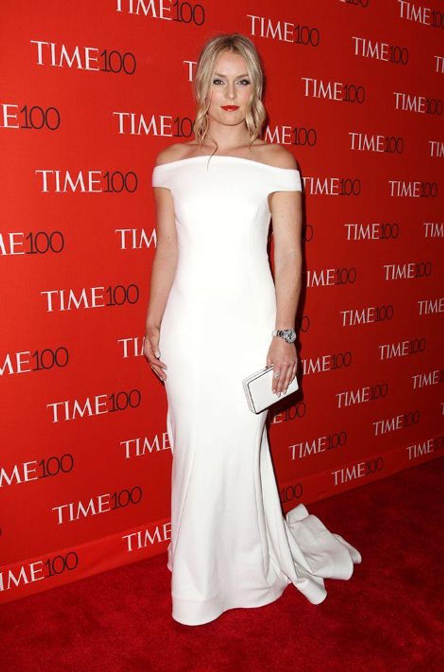 Lindsey Vonn à New York le 21 avril 2015