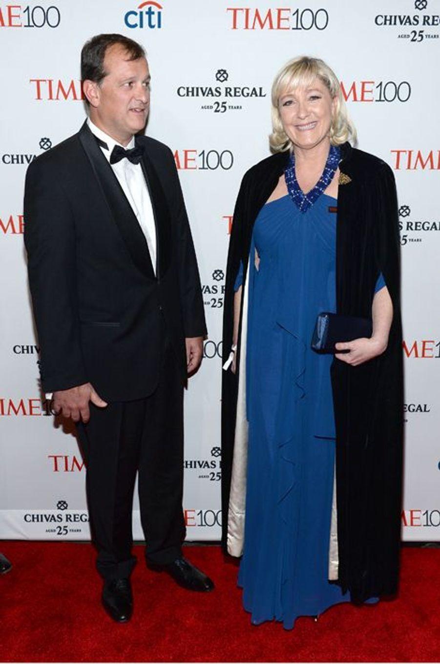Louis Aliot et Marine Le Pen à New York le 21 avril 2015