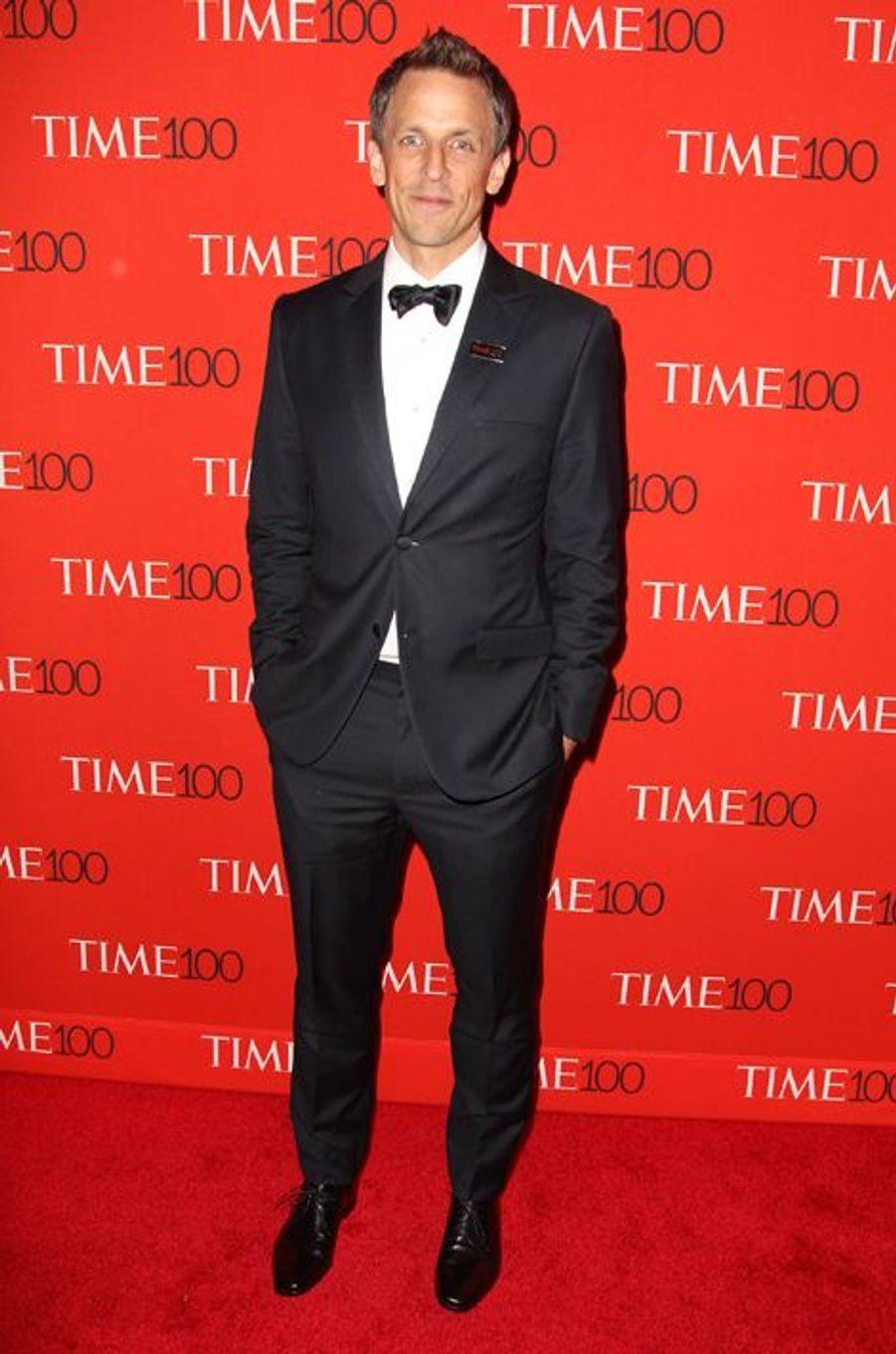 Seth Meyers à New York le 21 avril 2015