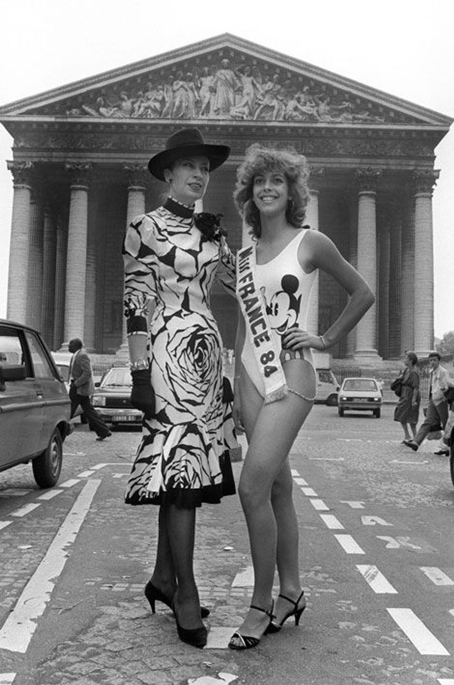 Avec Miss France 1984 Martine Robine
