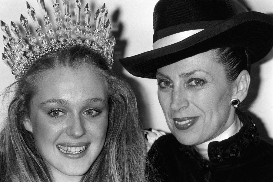 Avec Miss France 1986 Valérie Pascal en 1985