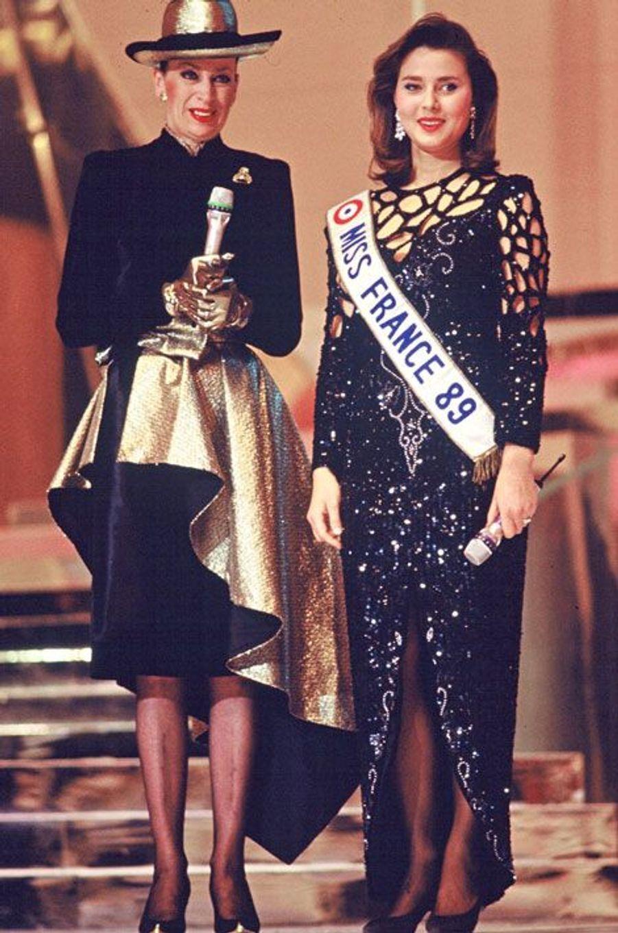 Avec Miss France 1989