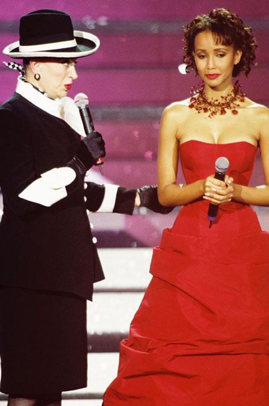 Avec Sonia Rolland, Miss France 2000