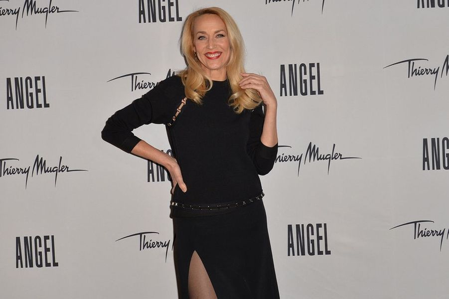 Jerry Hall à Paris le 30 janvier 2015