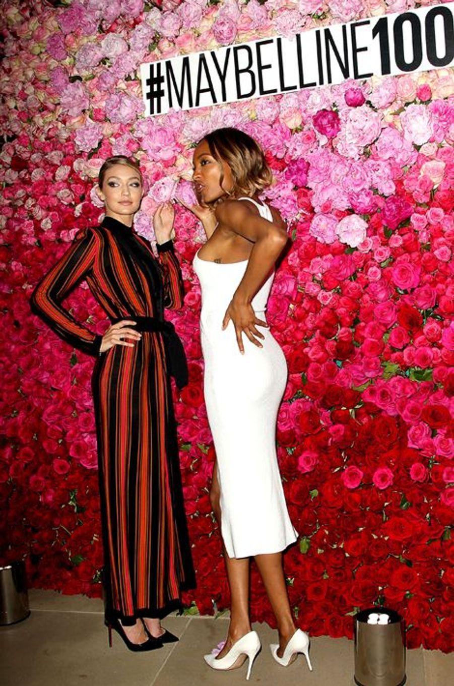 Gigi Hadid et Jourdan Dunn à New York le 14 mai 2015