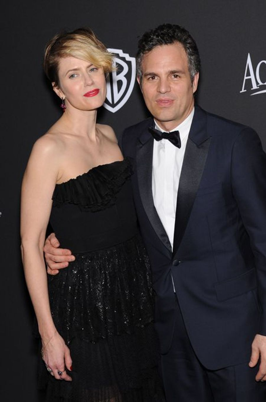 Sunrise Coigney et Mark Ruffalo à Los Angeles le 11 janvier 2014