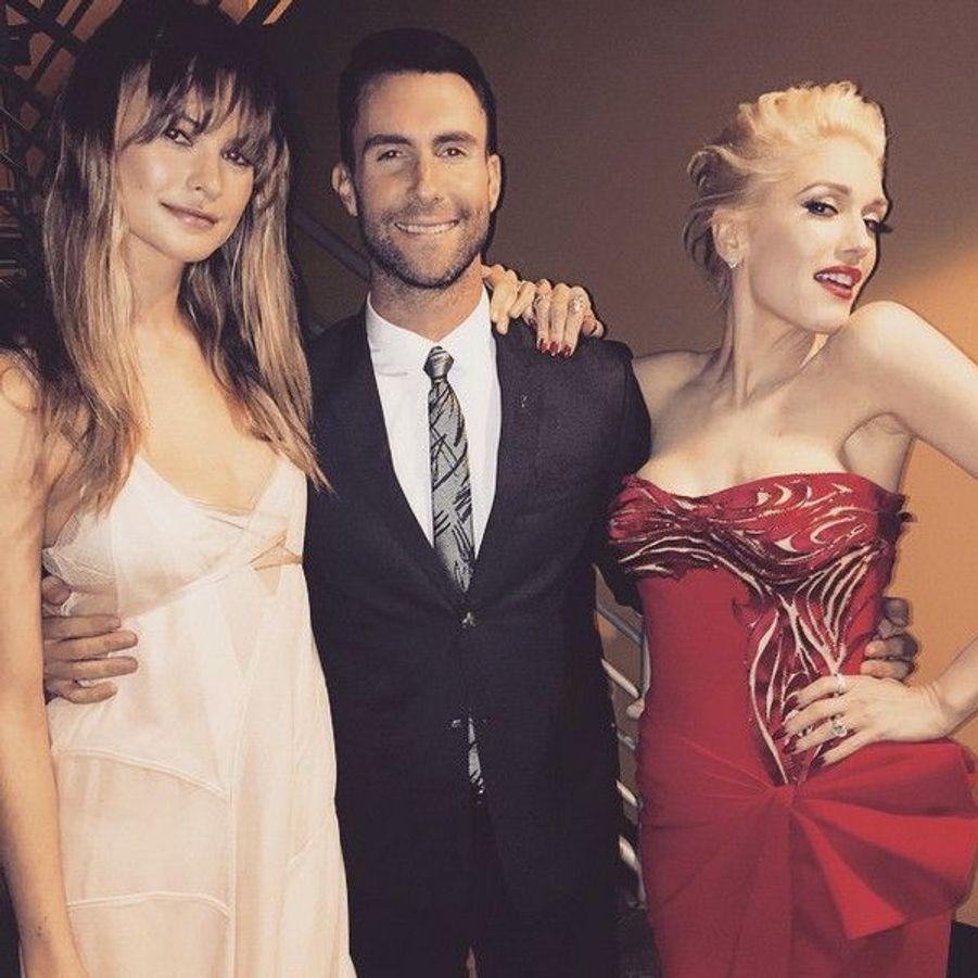 Behati Prinsloo, Adam Levine et Gwen Stefani