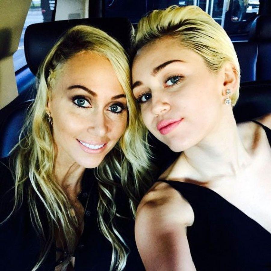 Miley Cyrus et sa mère, Tish
