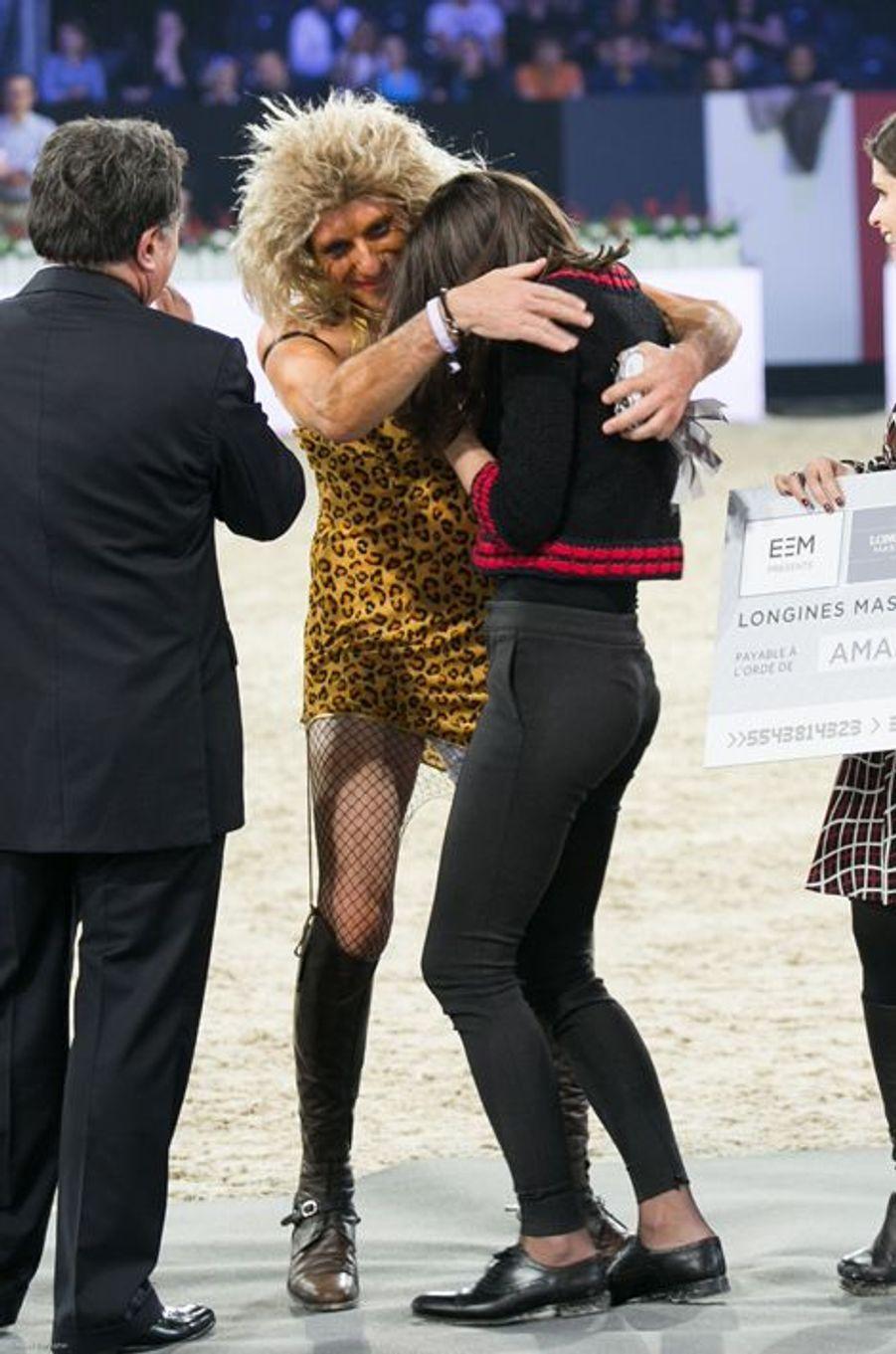 Charlotte Casiraghi et Vincent Bartin au Longines Masters de Paris (du 3 au 6 décembre 2015 à Villepinte).
