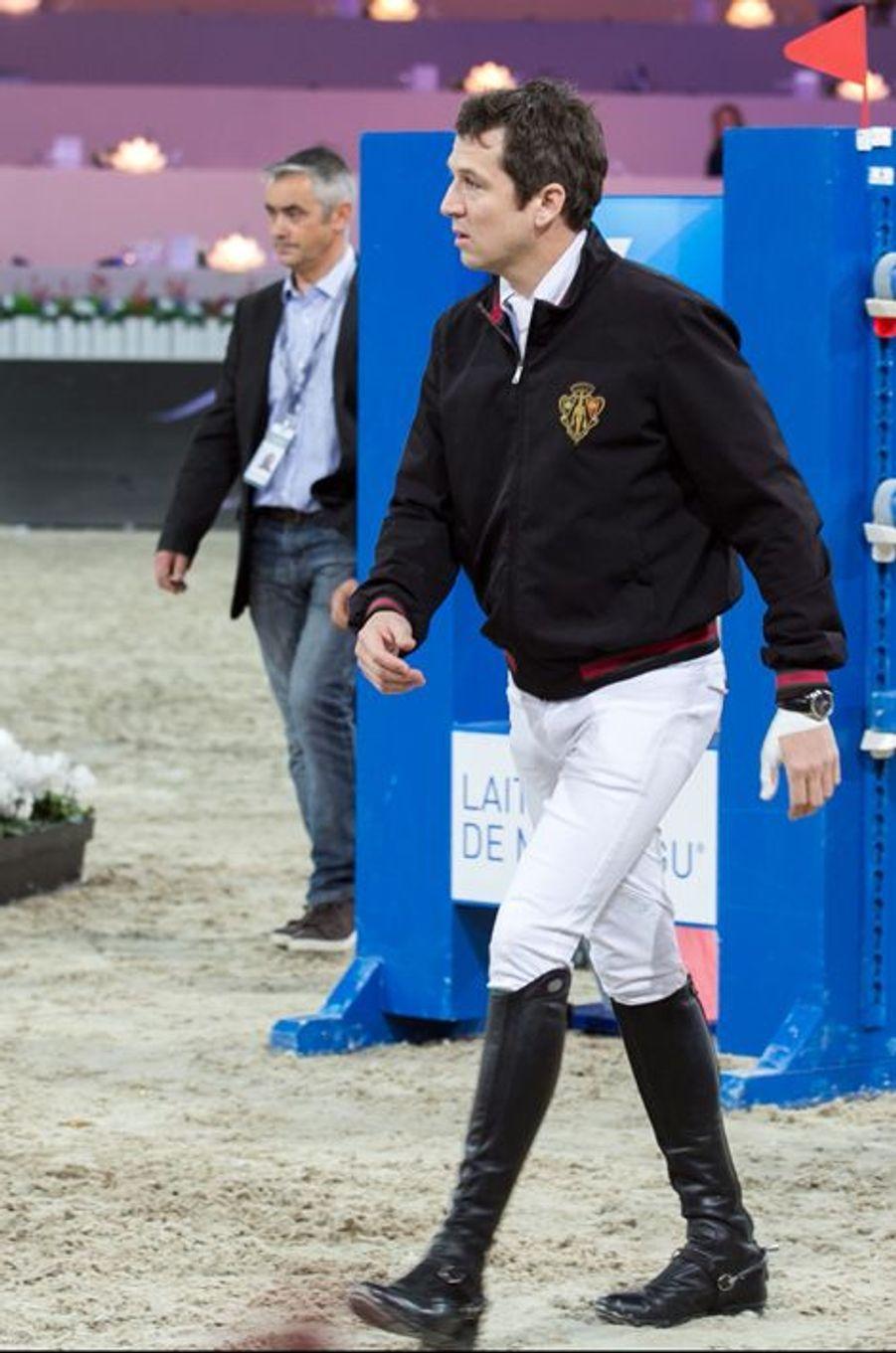 Guillaume Canet au Longines Masters de Paris (du 3 au 6 décembre 2015 à Villepinte).