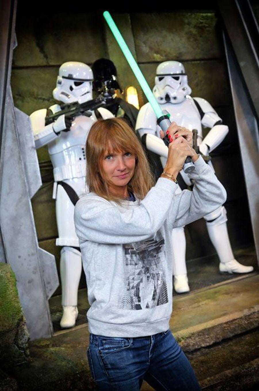 Axelle Lafont à Disneyland Paris pour la rentrée Star Wars