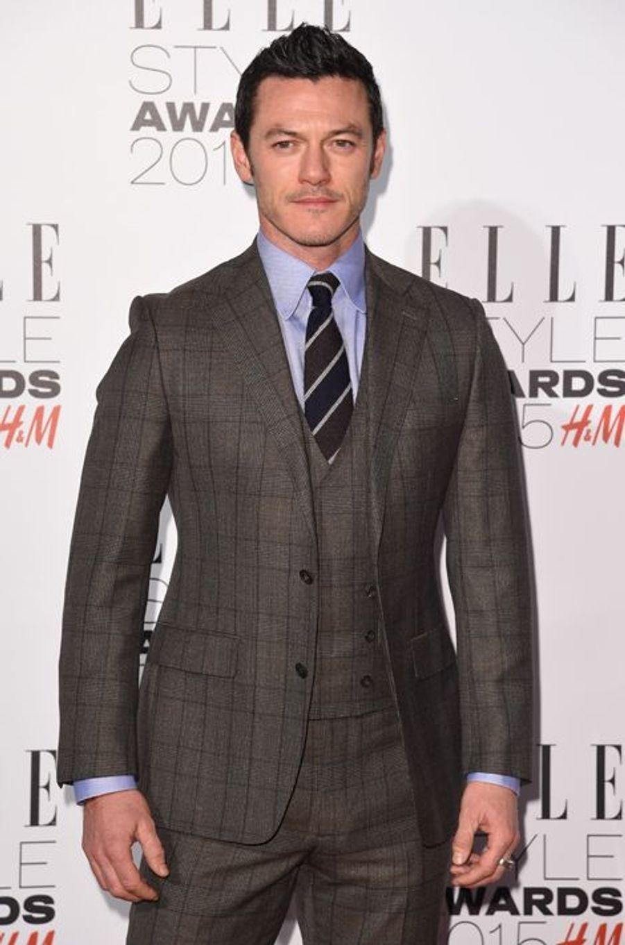 Luke Evans à Londres le 24 février 2015