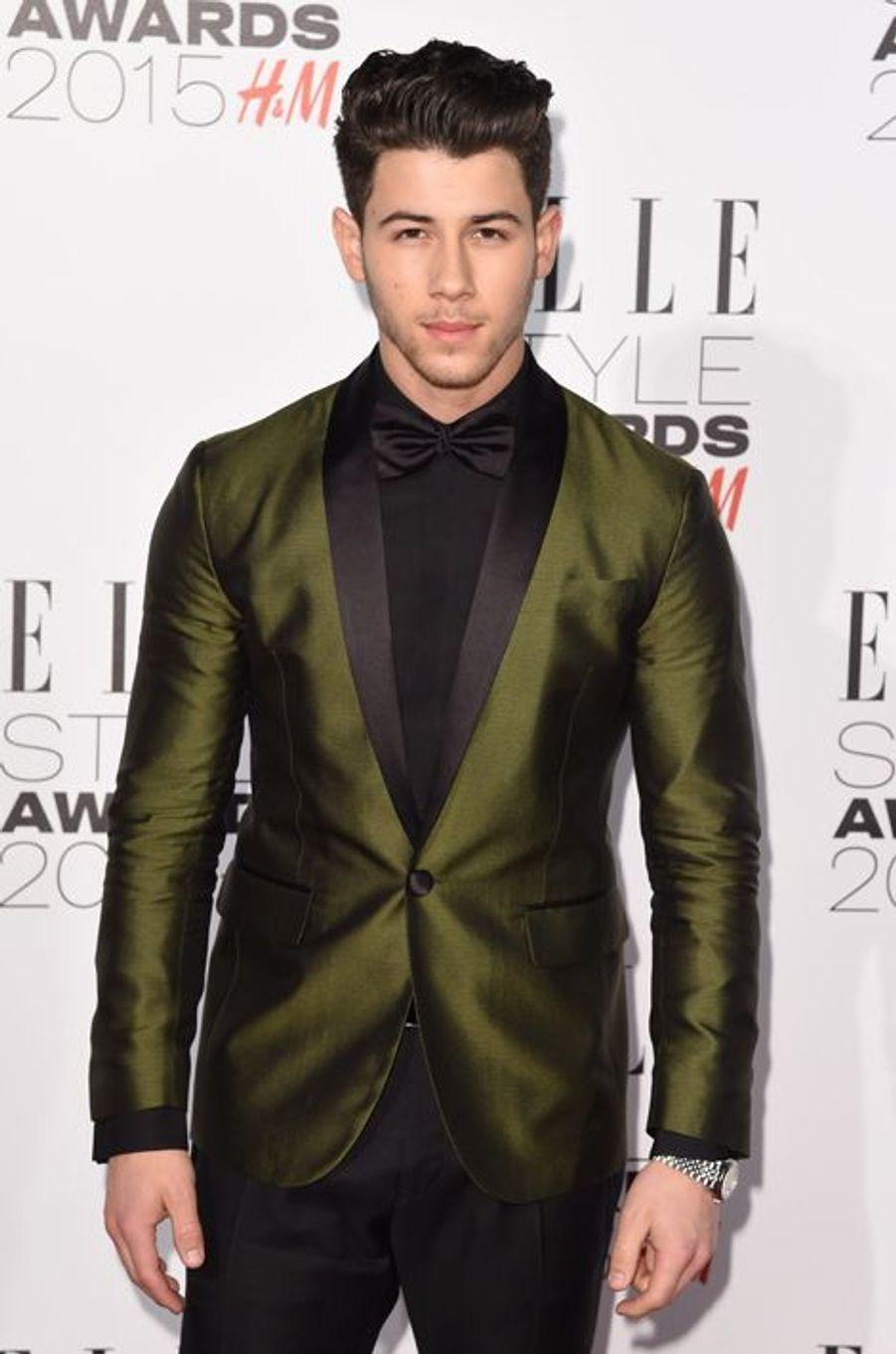 Nick Jonas à Londres le 24 février 2015