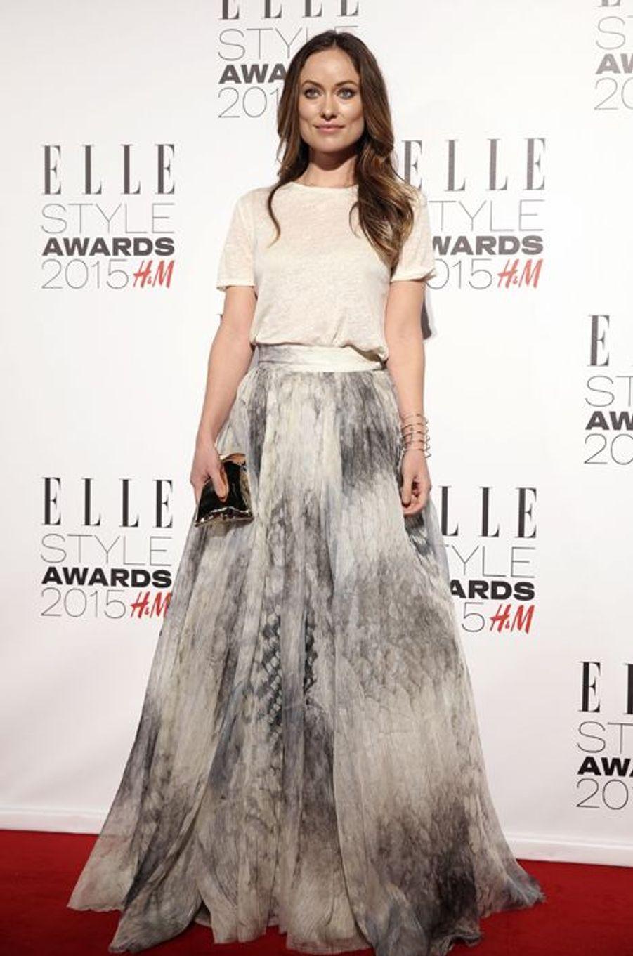 Olivia Wilde à Londres le 24 février 2015
