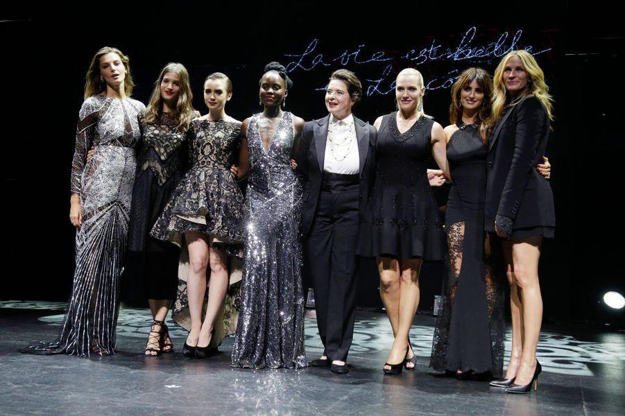 Daria Werbowy, Alma Jodorowsky, Lily Collins, Lupita Nyong'o, Isabella Rossellini, Kate Winslet, Penelope Cruz et Julia Roberts