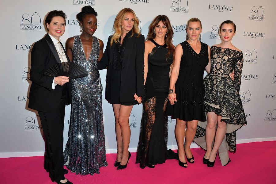 Isabella Rossellini, Lupita Nyong'o, Julia Roberts, Penélope Cruz, Kate Winslet et Lily Collins