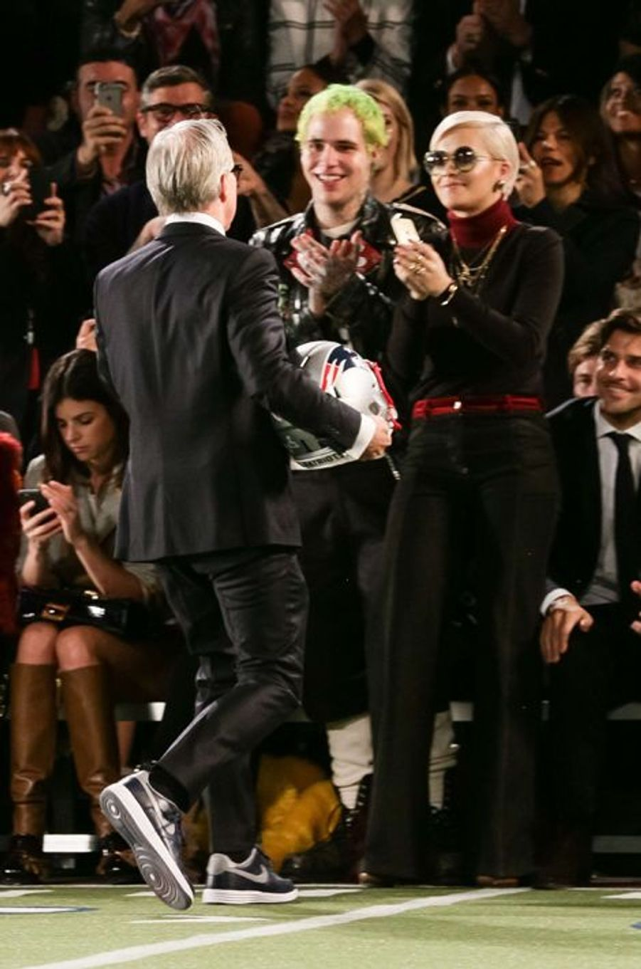 Ricky Hilfiger et Rita Ora soutiennent Tommy Hilfiger à New York le 16 février 2015