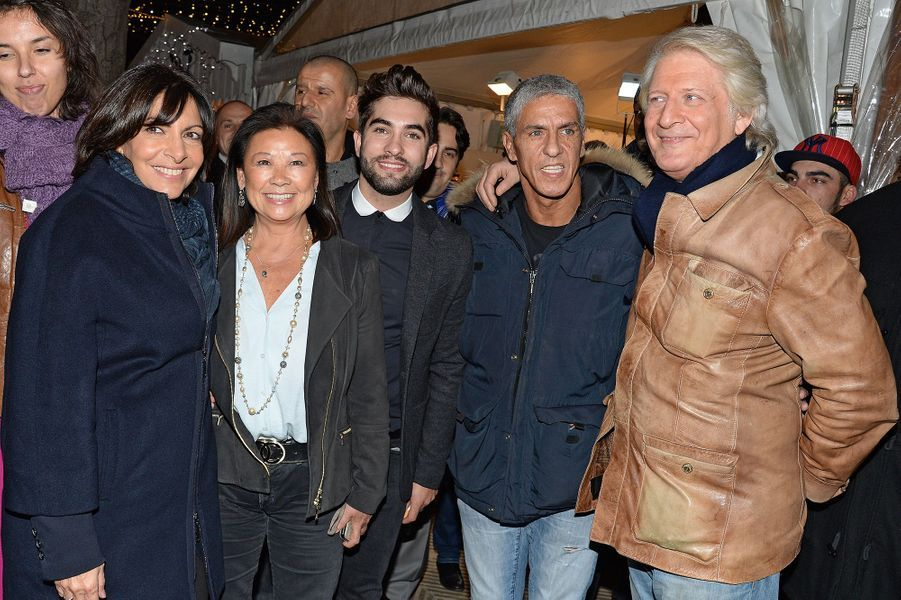 Anne Hidalgo, Jeanne d'Hauteserre, Kendji Girac et Samy Naceri et Patrick Sébastien