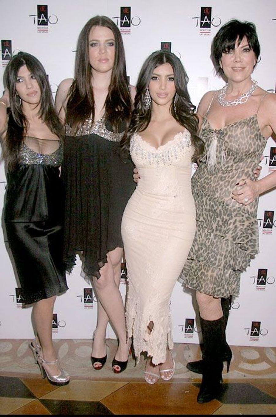 Avec sa mère et ses soeurs à Las Vegas en 2007