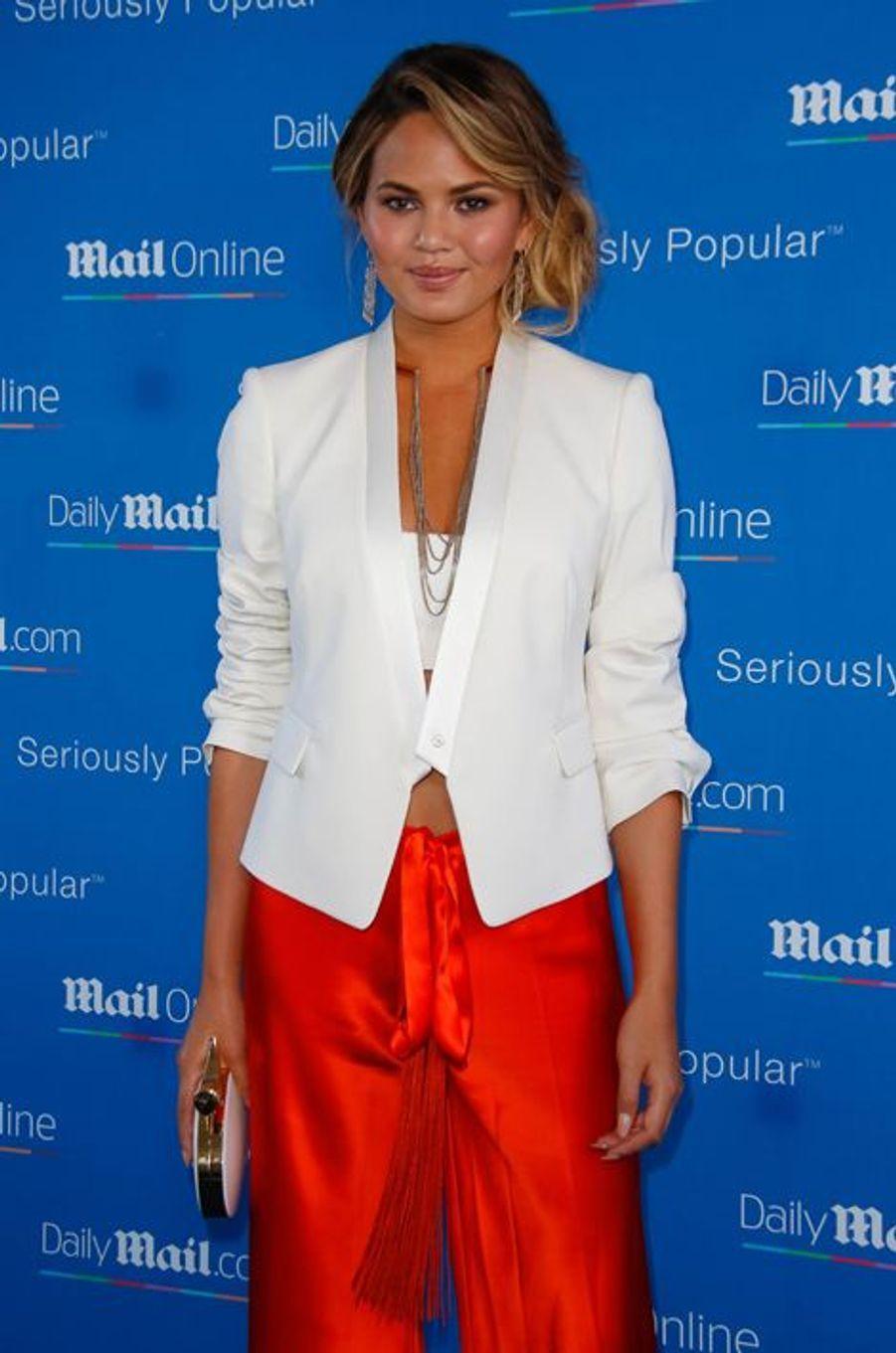Chrissy Teigen à Cannes le 24 juin 2015