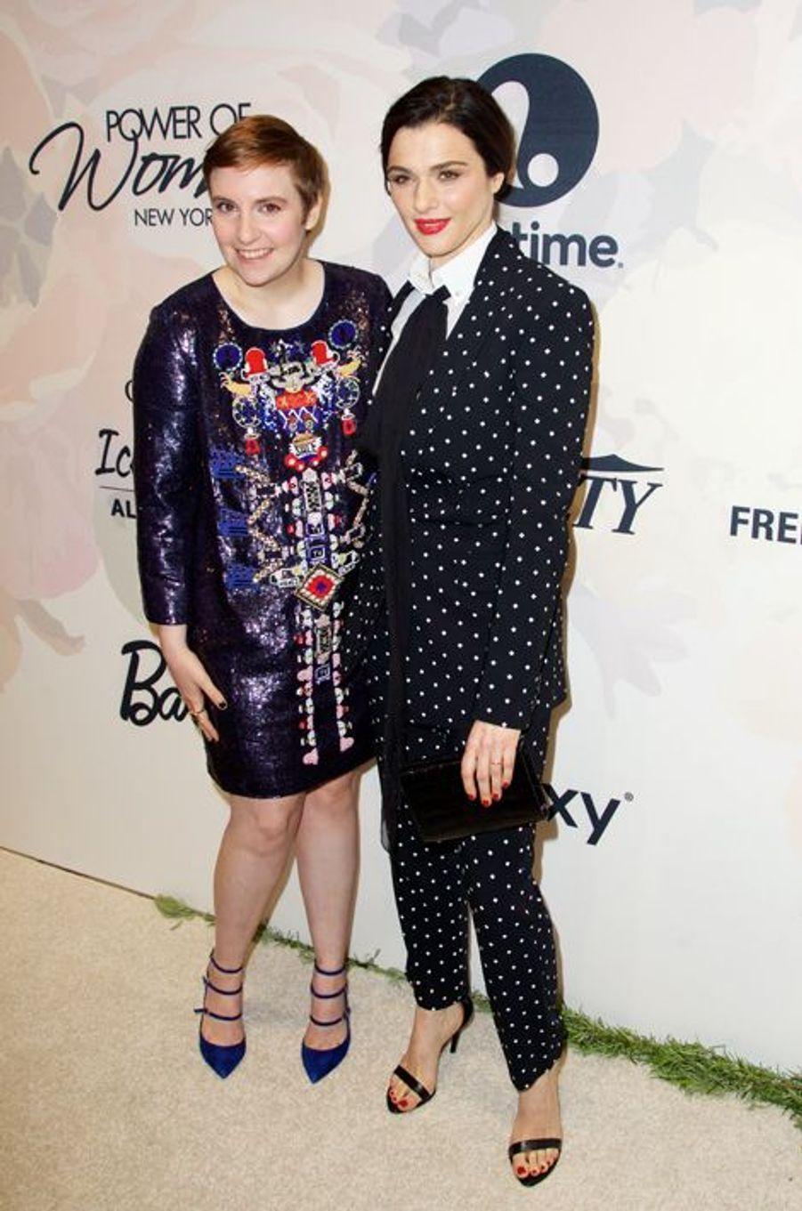 Lena Dunham et Rachel Weisz