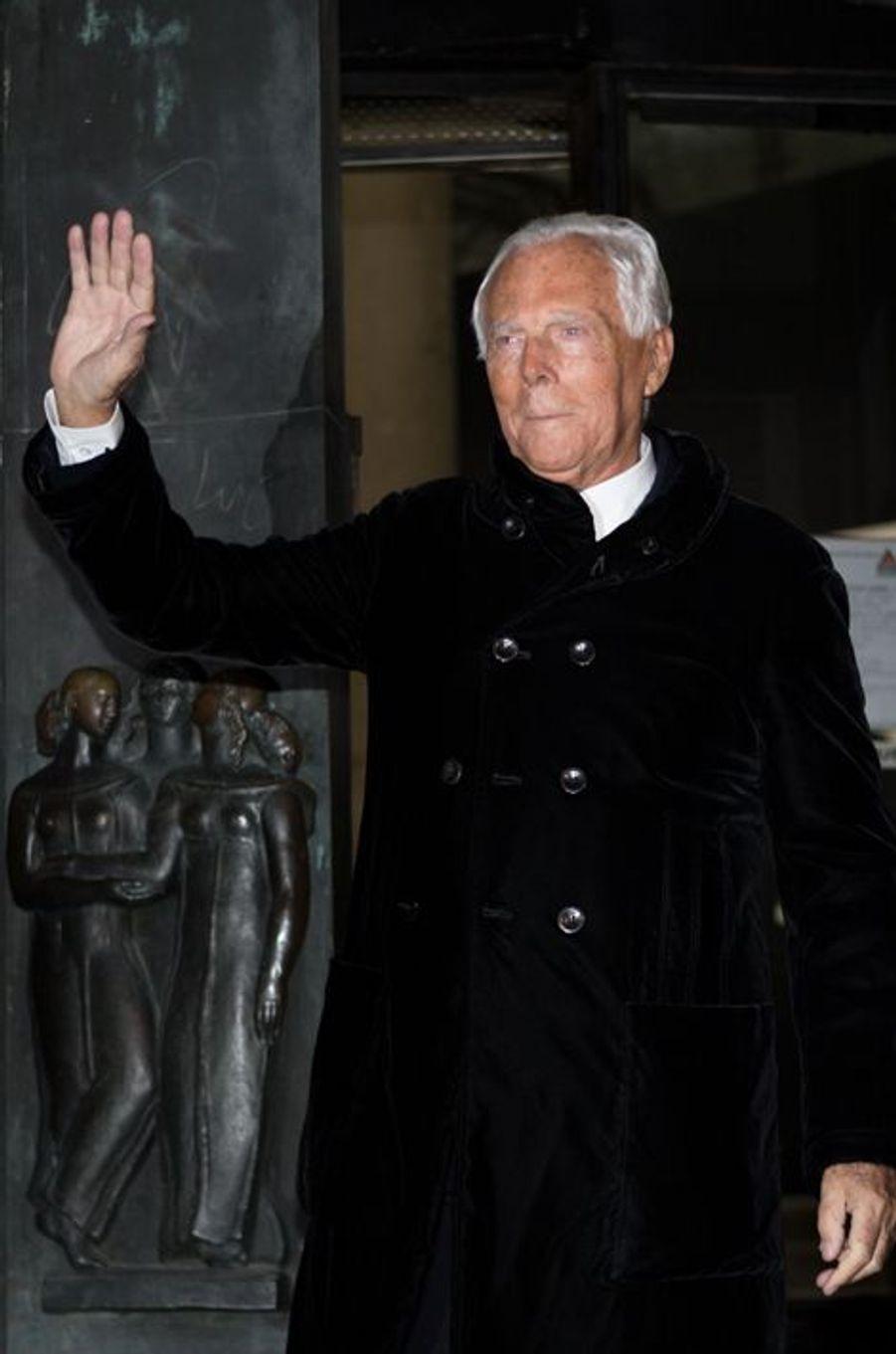 Giorgio Armani dévoile sa collection Couture pour le printemps 2015